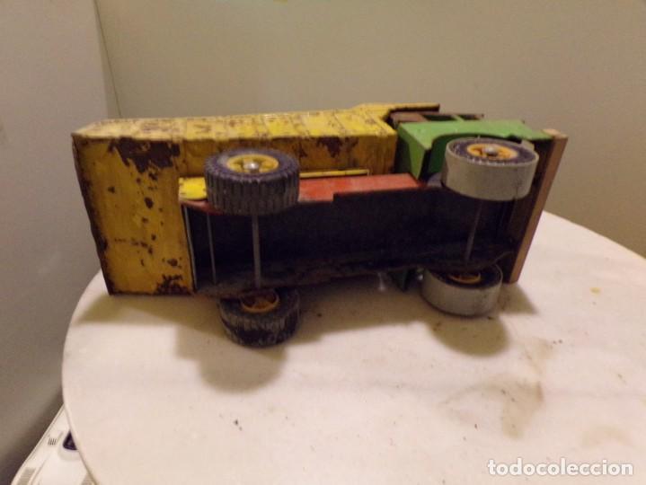 Juguetes antiguos Rico: camion antiguo de chapa con remolque marca rico 51 cm de largo - Foto 5 - 193565430