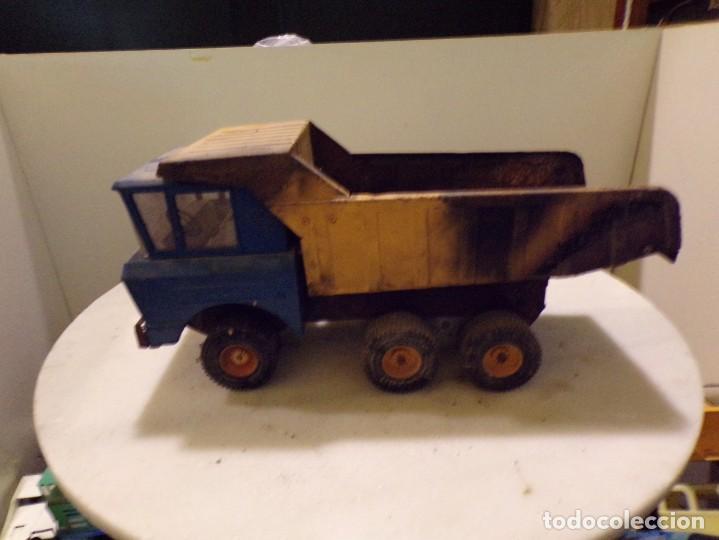 Juguetes antiguos Rico: camion antiguo de chapa con remolque marca rico 51 cm de largo - Foto 2 - 193565543