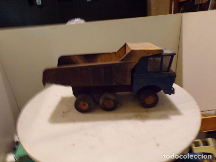 Juguetes antiguos Rico: camion antiguo de chapa con remolque marca rico 51 cm de largo - Foto 4 - 193565543