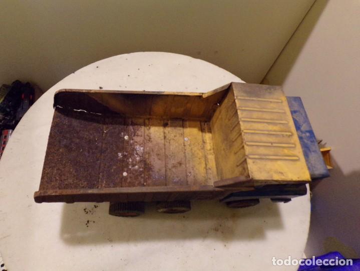 Juguetes antiguos Rico: camion antiguo de chapa con remolque marca rico 51 cm de largo - Foto 5 - 193565543