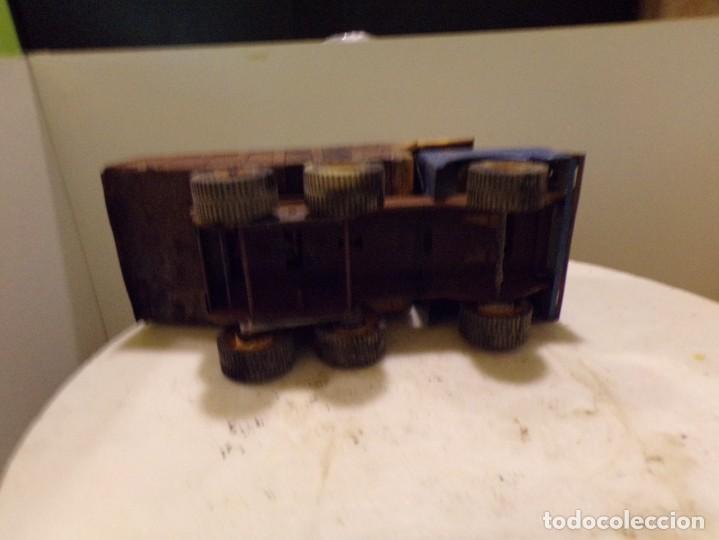 Juguetes antiguos Rico: camion antiguo de chapa con remolque marca rico 51 cm de largo - Foto 6 - 193565543