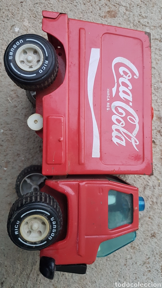 Juguetes antiguos Rico: Camion chapa coca cola Rico - Foto 3 - 194321161