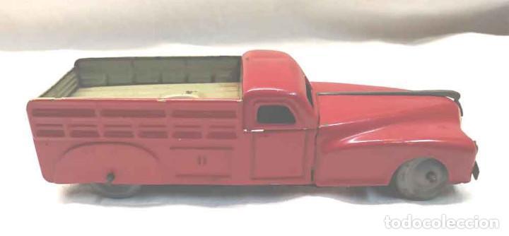 Juguetes antiguos Rico: Camion 222 de Rico años 40 original, buen estado, hojalata. Med. 14 cm - Foto 3 - 194361372