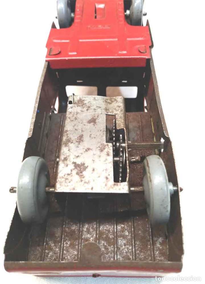 Juguetes antiguos Rico: Camion 222 de Rico años 40 original, buen estado, hojalata. Med. 14 cm - Foto 5 - 194361372