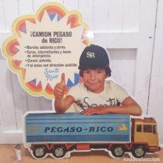Juguetes antiguos Rico: CARTEL PUBLICITARIO PEGASO SANTI RICO. Lote 194878066