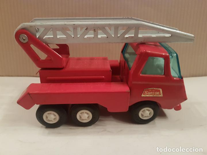 Juguetes antiguos Rico: camion con escala de rico mini sanson ver fotos - Foto 3 - 195313673