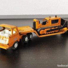 Brinquedos antigos Rico: CAMIÓN RICÓ MINI SANSÓN + REMOLQUE BULL DOZER (AÑOS 60/70). Lote 198072261