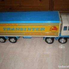 Brinquedos antigos Rico: PEGASO TRANSINTER BLANCO Y AZUL. Lote 199314018