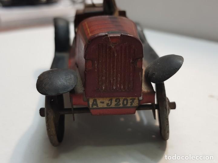 Juguetes antiguos Rico: Camión Hojalata y cuerda Bomberos de Rico años 30 original y escaso - Foto 5 - 199575503