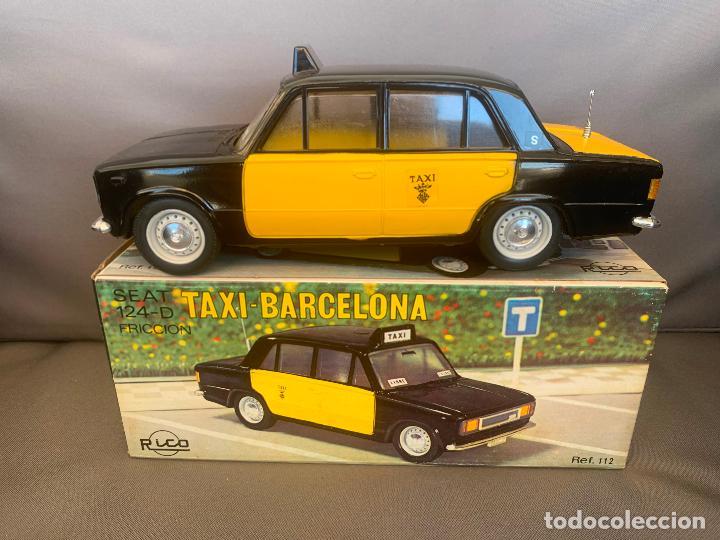 SEAT 124 RICO TAXI BARCELONA (Juguetes - Marcas Clásicas - Rico)
