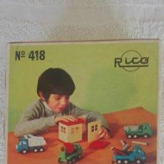 Brinquedos antigos Rico: GARAGE RICO EN CAJA ORIGINAL COMPLETO. Lote 202837061