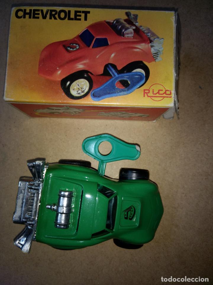 Juguetes antiguos Rico: coche RICO - CHEVROLET CON RESORTE con su caja original y llave de cuerda años 70-80 - Foto 2 - 204526321
