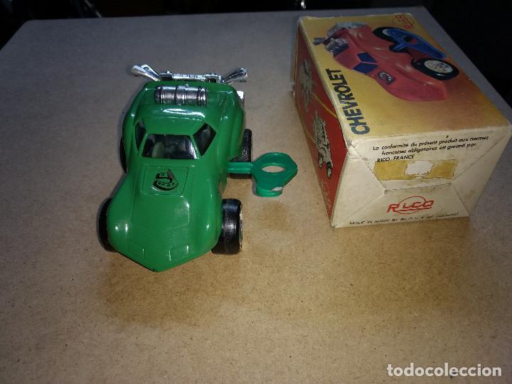 Juguetes antiguos Rico: coche RICO - CHEVROLET CON RESORTE con su caja original y llave de cuerda años 70-80 - Foto 3 - 204526321