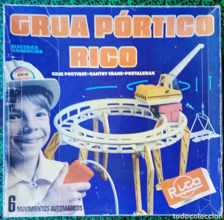 GRUA PÓRTICO RICO - CON CAJA ORIGINAL - BUEN ESTADO - FUNCIONA EN PARTE - FALTAN PIEZAS (Juguetes - Marcas Clásicas - Rico)