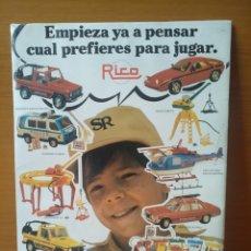 Giocattoli antichi Rico: CARTEL PUBLICITARIO RICO JUGUETES. Lote 209041523