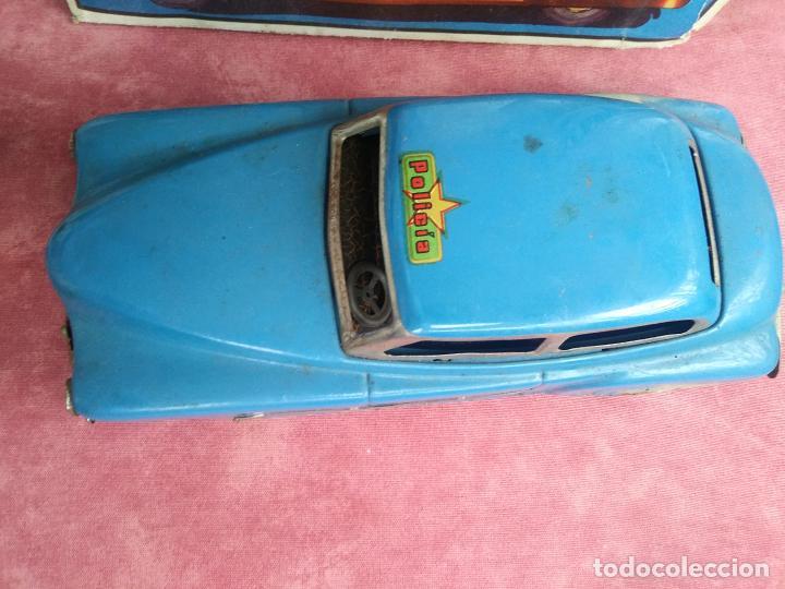 Juguetes antiguos Rico: Coche sedan policía rico a fricción I-238 con caja leer - Foto 3 - 210488646