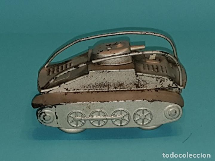Juguetes antiguos Rico: Tanque voltereta de RICO, años 40. - Foto 2 - 211647363