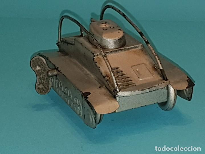 Juguetes antiguos Rico: Tanque voltereta de RICO, años 40. - Foto 4 - 211647363