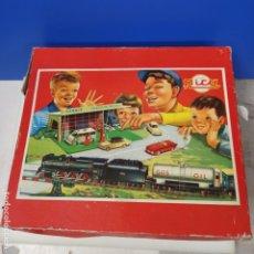 Juguetes antiguos Rico: ANTIGUO TREN JUGUETE RICO EN CAJA ORIGINAL MAQUINA + VAGONES + VIAS COMPLETO. Lote 211906891