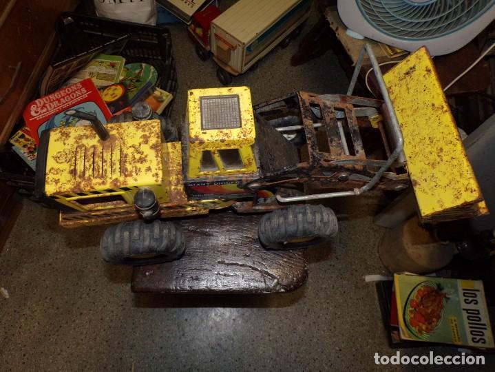Juguetes antiguos Rico: antigua escabadora de chapa rico 57 cm largo - Foto 4 - 214258158
