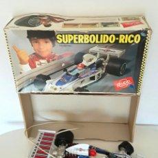 Juguetes antiguos Rico: SUPERBÓLIDO F1 RICO CABLE DIRIGIDO GRAND PRIX MADE IN SPAIN CON CAJA ORIGINAL. Lote 216876731
