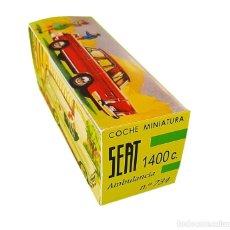 Juguetes antiguos Rico: RICO SEAT 1400 C AMBULANCIA Nº 734 ESCALA 1/38 CAJA (LEER DESCRIPCIÓN).. Lote 217512037