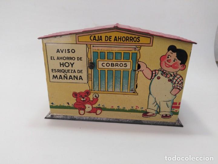 "Juguetes antiguos Rico: ANTIGUA HUCHA JUGUETE DE HOJALATA DE RICO ""CAJA DE AHORROS"" - Foto 2 - 217709566"