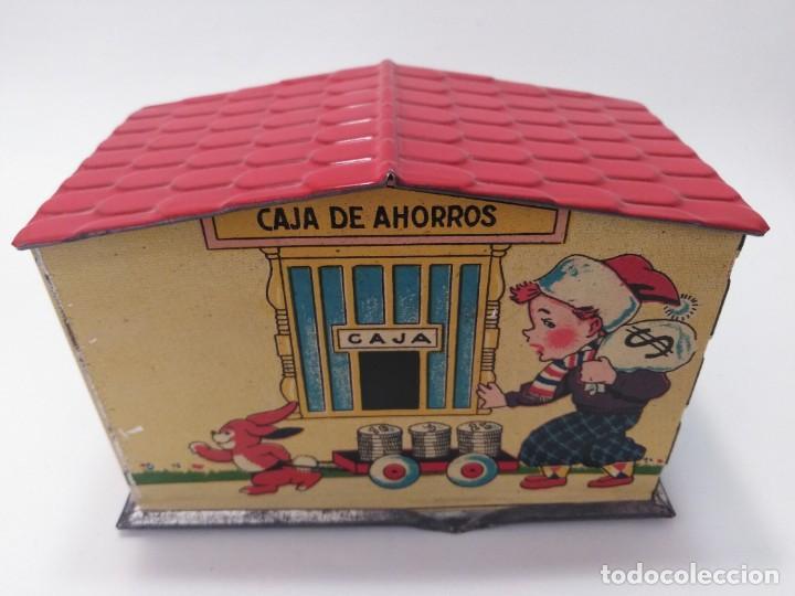 "Juguetes antiguos Rico: ANTIGUA HUCHA JUGUETE DE HOJALATA DE RICO ""CAJA DE AHORROS"" - Foto 4 - 217709566"
