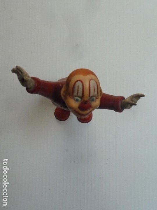 Juguetes antiguos Rico: payaso de hojalata original antiguo marca rico buen estado de conservacion - Foto 3 - 225037223