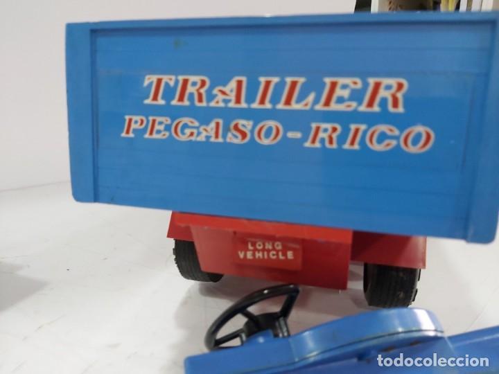 Juguetes antiguos Rico: ANTIGUO CAMION PEGASO DE RICO TRANSINTER ARTICULADO - Foto 17 - 228075923