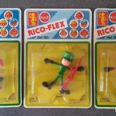 Giocattoli antichi Rico: LOTE MUÑECOS RICO FLEX. Lote 229132375