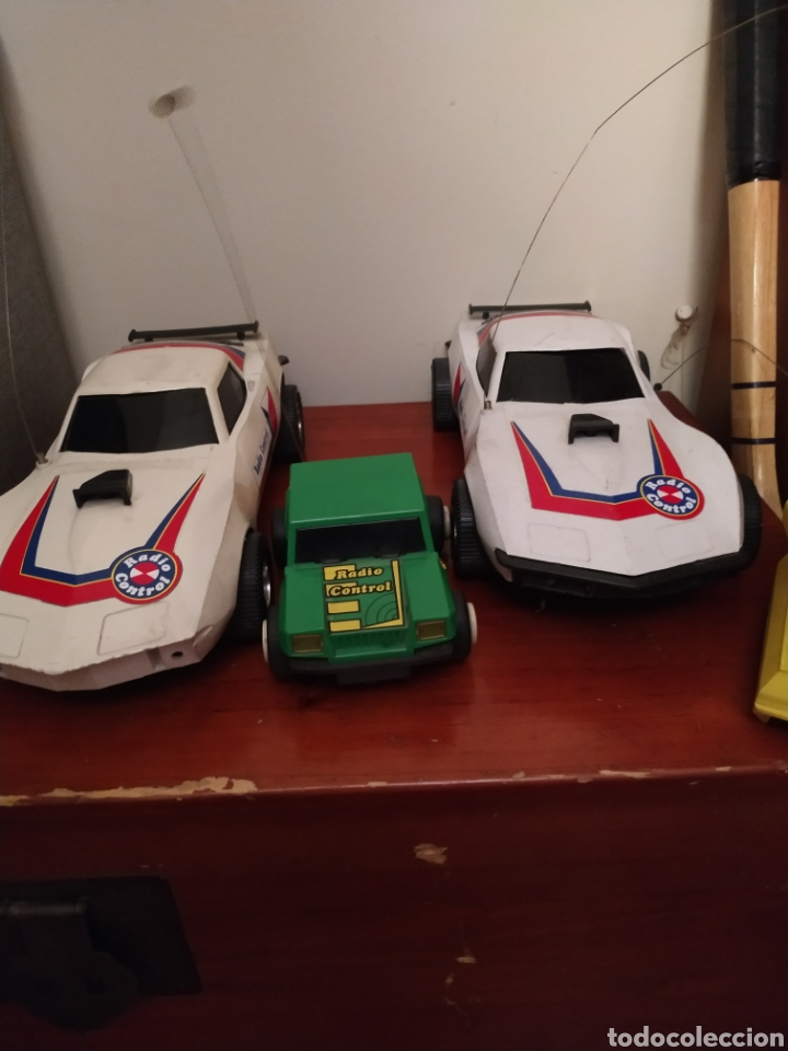 Juguetes antiguos Rico: Lote de 3 coches rico para reparar o piezas y dos mandos - Foto 2 - 229616155