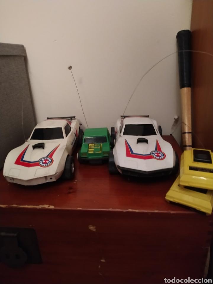 Juguetes antiguos Rico: Lote de 3 coches rico para reparar o piezas y dos mandos - Foto 7 - 229616155