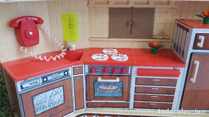 Juguetes antiguos Rico: La Super cocina electrica batidora telefono y luz funcionando años 70 de rico - Foto 15 - 232657660