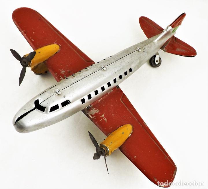 Juguetes antiguos Rico: Rico avión bimotor original Cca.1940 - Foto 2 - 237717720