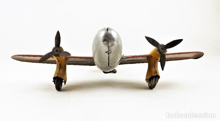 Juguetes antiguos Rico: Rico avión bimotor original Cca.1940 - Foto 3 - 237717720
