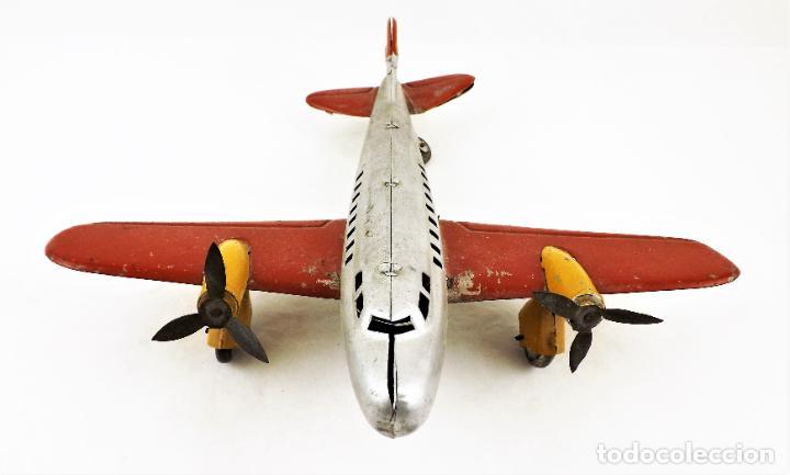 Juguetes antiguos Rico: Rico avión bimotor original Cca.1940 - Foto 4 - 237717720