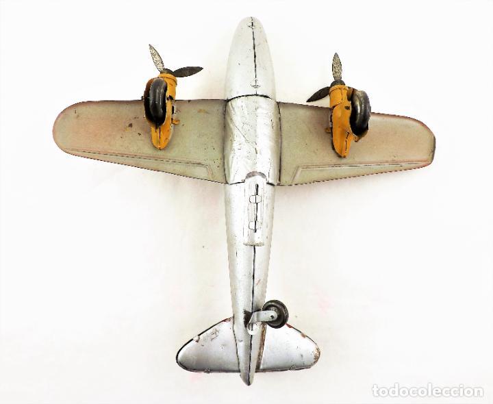 Juguetes antiguos Rico: Rico avión bimotor original Cca.1940 - Foto 5 - 237717720
