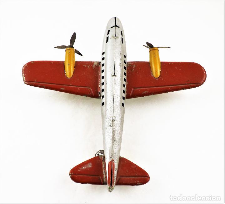 Juguetes antiguos Rico: Rico avión bimotor original Cca.1940 - Foto 6 - 237717720