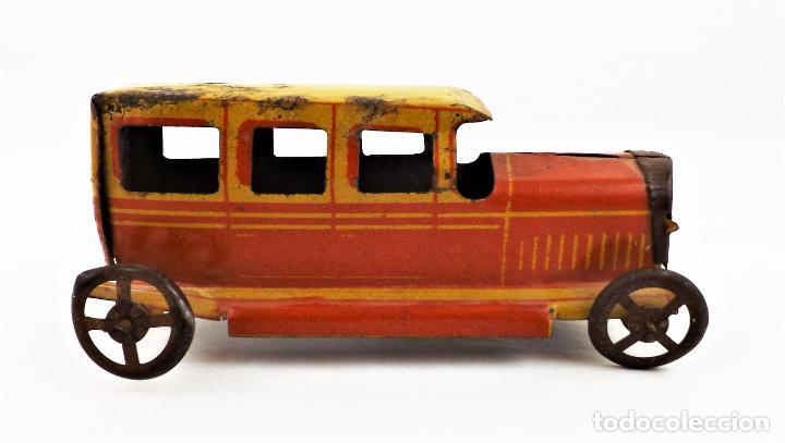 Juguetes antiguos Rico: Rico original. Automóvil antiguo bicolor Cca.1940 - Foto 4 - 237718735