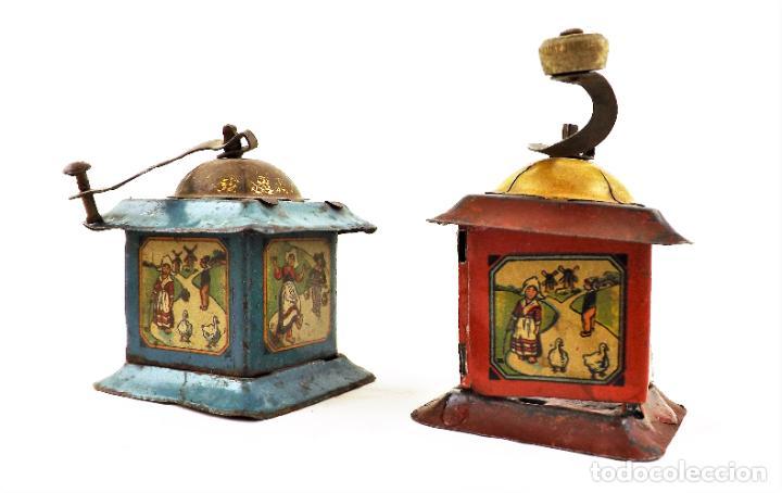 Juguetes antiguos Rico: Rico molinillos de hojalata años 30 (a restaurar) - Foto 3 - 238446055