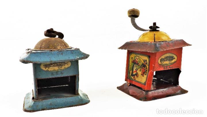 Juguetes antiguos Rico: Rico molinillos de hojalata años 30 (a restaurar) - Foto 4 - 238446055