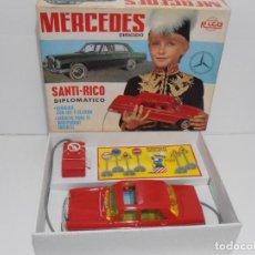 Giocattoli antichi Rico: COCHE MERCEDES DIPLOMATICO SANTI RICO AUTOESCUELA CAJA ORIGINAL. Lote 240508290