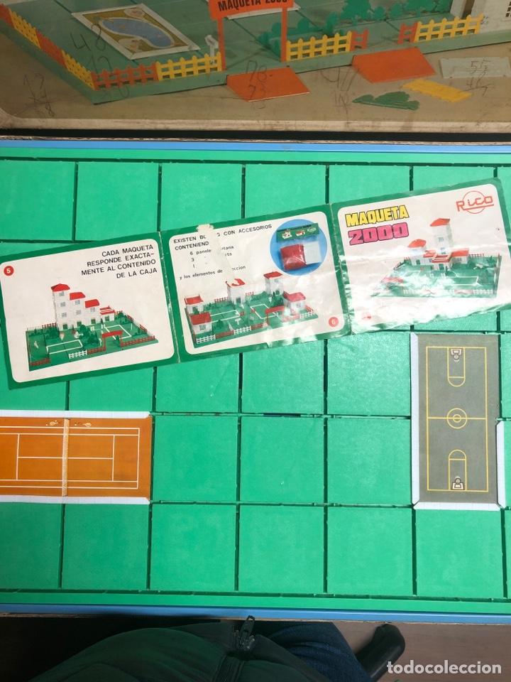 Juguetes antiguos Rico: ANTIGUO JUEGO MAQUETA 2000 DE RICO EN SU VAJA ORIGINAL(tal y como se ve en las fotos) - Foto 4 - 245351180