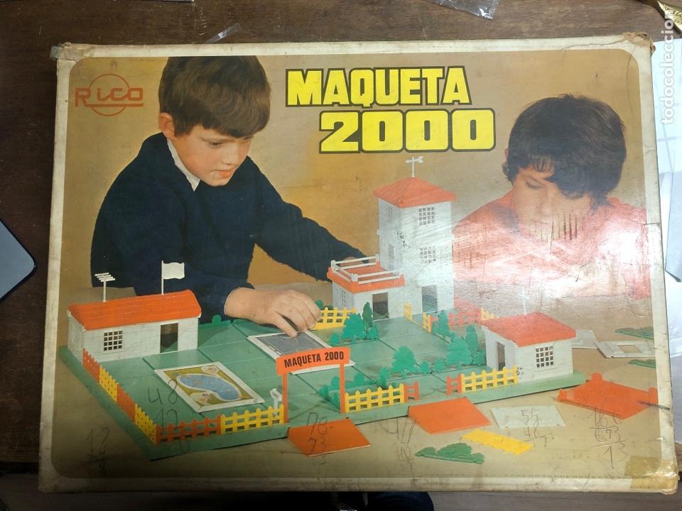 Juguetes antiguos Rico: ANTIGUO JUEGO MAQUETA 2000 DE RICO EN SU VAJA ORIGINAL(tal y como se ve en las fotos) - Foto 5 - 245351180