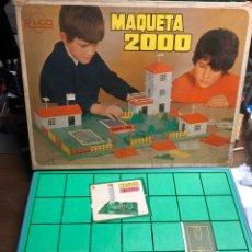 Juguetes antiguos Rico: ANTIGUO JUEGO MAQUETA 2000 DE RICO EN SU VAJA ORIGINAL(TAL Y COMO SE VE EN LAS FOTOS). Lote 245351180