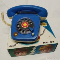 Juguetes antiguos Rico: TELÉFONO ELÉCTRICO CON LUZ Y TIMBRE RICO REFERENCIA 93. Lote 257600325