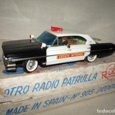 Juguetes antiguos Rico: ANTIGUO FORD GALAXIE RADIO PATRULLA AGENTE INTERPOL DIRIGIDO POR CABLE DE RICO. Lote 292547558