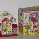 Juguetes antiguos Román: HUCHA DE HOJALATA LITOGRAFIADA A CUERDA ROMAN.. Lote 42257466