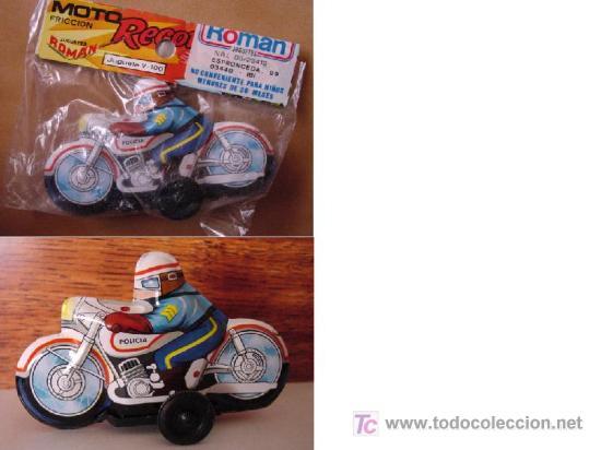 MOTO FRICCION DE ROMAN (Juguetes - Marcas Clásicas - Román)